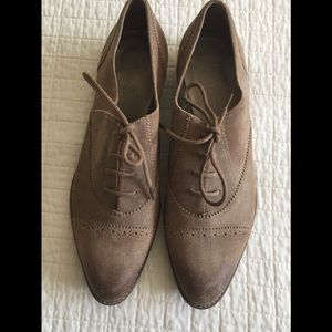 Talbots light brown suede oxford lace up